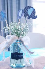 Centerpieces For Boy Baptism by Best 25 Baby Shower Centerpieces Ideas On Pinterest Baby Shower