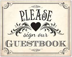 vintage guest book vintage guestbook sign template downloadble stationery 35611