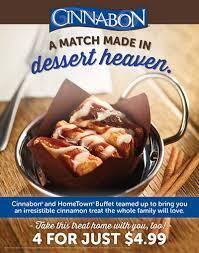 Hometown Buffet Jobs by Hometown Buffet And Cinnabon Are A Match Made In Dessert Heaven