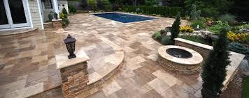 Custom Patio Furniture Covers - patio stones as patio furniture covers with unique travertine