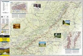 Skyline Drive Map Blue Ridge Parkway National Geographic Destination Map National