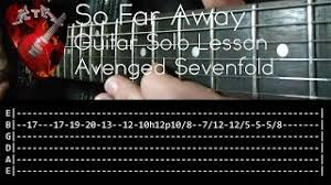 tutorial gitar dear god ecouter et télécharger so far away avenged sevenfold cover en
