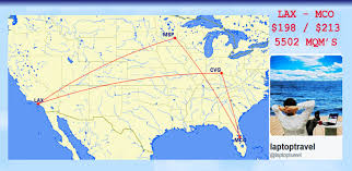 Delta Airlines Route Map by Delta Airlines Mileage Run Lax U2013 Mco Los Angeles Ca To Orlando