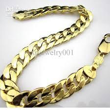 bracelet chain gold man images 2018 wholesale 14k yellow gold filled men 39 s bracelet curb chain jpg