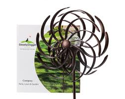 wind spinners with led lights steadydoggie solar powered led light with wind spinner