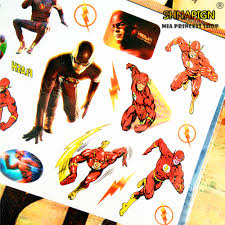 nu taty the flash superhero child temporary tattoo body art flash