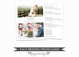 photographer price list wedding pricing guide template