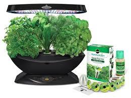 miracle gro aerogarden 7 led indoor garden with gourmet herb seed