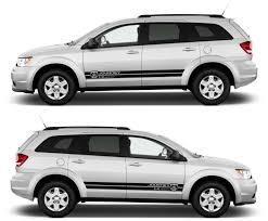 Dodge Journey Grey - ssk081 dodge journey 2 4l dual vvt car stripes kit sticker charger