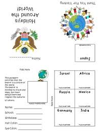 holidays around the world journal and passport freebie by just a