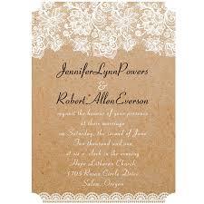 vintage lace wedding invitations vintage floral lace burlap ticket shape wedding invitations
