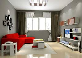 Modern Laminate Flooring Cool Gray Living Room Color Ideas With Red Modern Sofa Design And