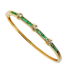 bangle bracelet diamond images Emerald bangle bracelet kaufmann de suisse jpg