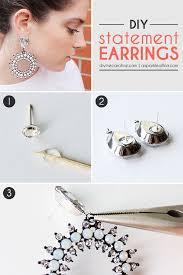 make dangle earrings make a statement diy dangle earrings more