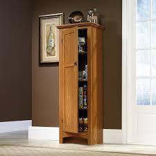 Metal Kitchen Cabinets Ebay by Amazon Com Sauder Summer Home Pantry Carolina Oak Finish Broom