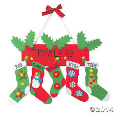 foam stocking door hanger christmas craft kit 12 pk party supplies