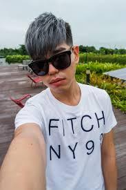 cool ash grey hair color from 99 percent hair studio darren