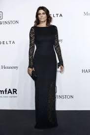 samara weaving sheer black open back long sleeve evening dress