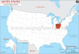 milan ohio map where is ohio located location map of ohio usa