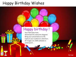birthday wishes templates happy birthday wishes powerpoint presentation templates