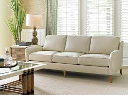 Narrow Leather Sofa Artena Ivory Leather High Back Sofa Collection With Regard To