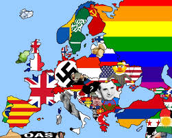Europe Flag Map by Flag Map Of Europe Mapporncirclejerk