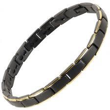 titanium magnetic bracelet black images Ladies titanium magnetic bracelet black gold bali rare earth jpg