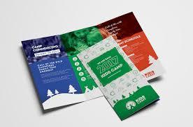 kids camp trifold brochure template for photoshop u0026 illustrator