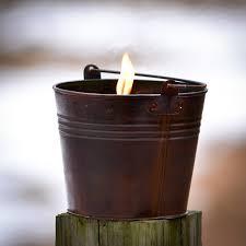 outdoor citronella bucket candle 22 oz dark brown pail