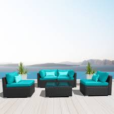 Turquoise Patio Furniture by Amazon Com Modenzi 5g U Outdoor Sectional Patio Furniture