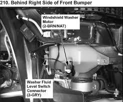 2005 acura rl the windshield washer spraying tank