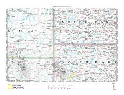Map Of Montana by Little Missouri River Drainage Basin Landform Origins Wyoming