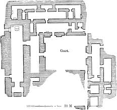 floor plan of the palace at nimrud clipart etc