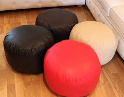 round leather bean bag u2014 home ideas collection ideas of a