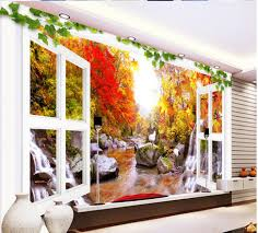 3d wallpaper for room scenery of autumn leaves on the tv wall 3d wallpaper for room scenery of autumn leaves on the tv wall mural photo wallpaper home decoration in wallpapers from home improvement on aliexpress com