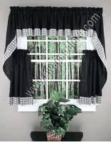 Chocolate Curtains With Valance Kitchen Curtains Tiers U0026 Swags Swags Galore Kitchen Curtains