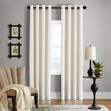 grand luxe linen gotham pearl grommet curtain panel 108 inch pearl beige