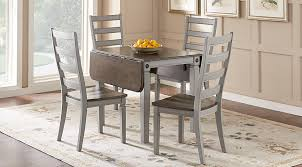 shop for a encino 5 pc dining room w white galena chairs at rooms