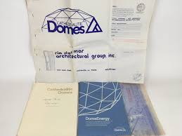 geodesic dome floor plans vintage 1979 cathedralite geodesic dome house plans blueprints