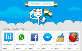 messenger apps for android india s own hike messenger app hits no 1 spot on android and