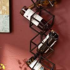 black metal wall mounted wine rack for accent wall color ideas