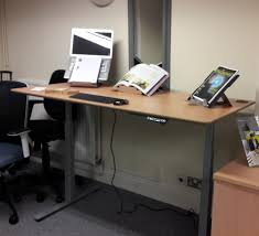 Adjustable Height Desk Frame by Sit Stand Height Adjustable Desk Range Total Back Care Blog