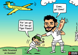 cartoon india and kohli thwart tiger power cricket country