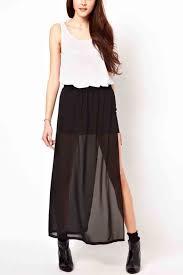 black maxi skirt with slit black sheer chiffon side slit maxi skirt skirts maxi skirt