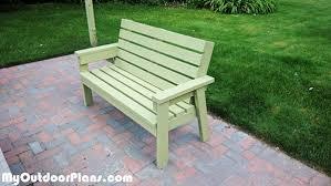 2x4 Outdoor Furniture by Diy 2x4 Simple Garden Bench Myoutdoorplans Free Woodworking