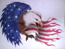 Eagle And Flag Tattoos Eagle Flag Tattoo Design By Shayladawn On Deviantart