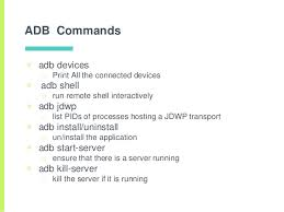 android shell commands android adb