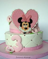 splendid pink minnie mouse heart birthday cake between the pages