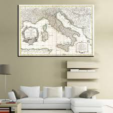 Retro Living Room Art Compare Prices On Wall Art Maps Online Shopping Buy Low Price
