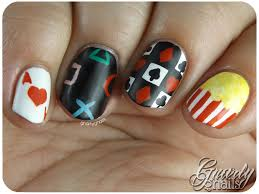 nail art a go go day 19 game night gnarly gnails